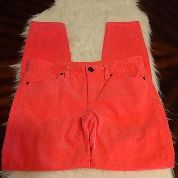 J. Crew Pants - J. Crews Toothpicks 25 Pink Stretch Cords EUC